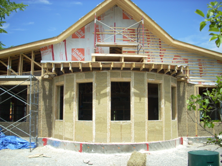 Hempcrete holds in warmth in winter and coolness in summer