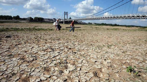Droughts and heat wave--climate change--global warming.