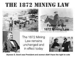 The law of 1872 leaves no responsibility for cleanup of mines