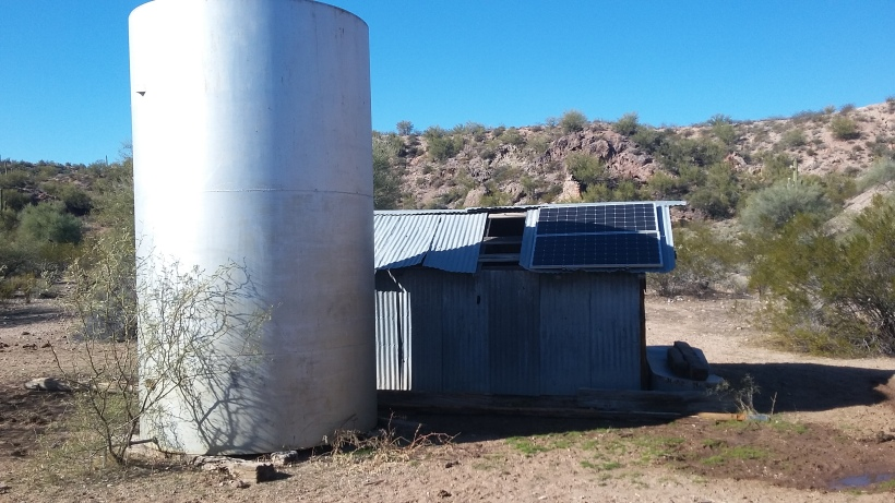 Solar watering stations for livestock