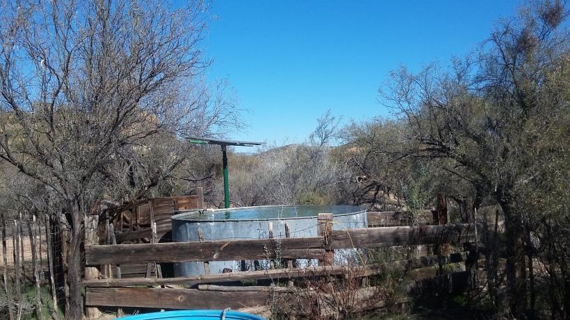 Solar watering station