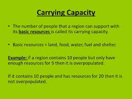Carrying Capacity and overpopulation