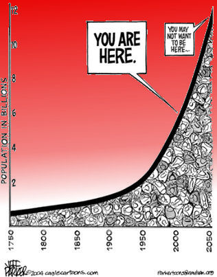 Overpopulation of our planet.